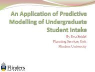 An Application of Predictive Modelling of Undergraduate Student ...