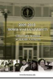 BSU Graduate Catalog - Bowie State University