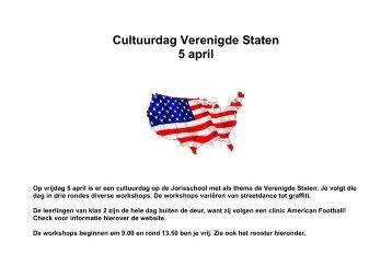 Cultuurdag Verenigde Staten 5 april - St. Jorisschool Nijmegen
