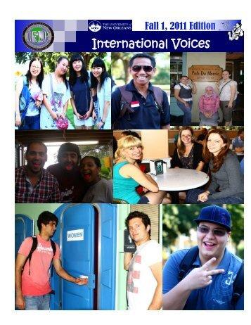 Fall I - Intensive English Language Program at University of New ...