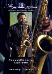 Alumni choose diverse music careers - Northwestern State ...