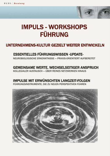 Impuls-Workshops - Dr. Peter Buhl Coaching & Counseling