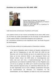 Bewerbung Landessprecher - Rüdiger Sagel