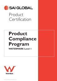Application for Certification and Trademark Licence - SAI Global