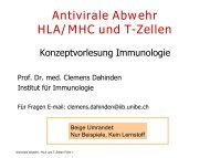 Antivirale Abwehr HLA/MHC und T-Zellen - University Institute of ...