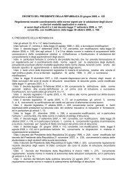 Decreto del Presidente della Repubblica n. 122 ... - Istituto A. Serpieri