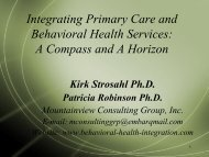 Integrating Primary Care and Behavioral Health Services: A ...