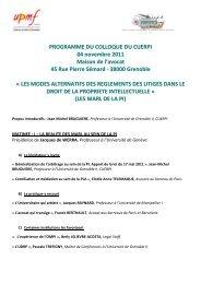 Programme - inpi.fr: Rhône-Alpes Lyon
