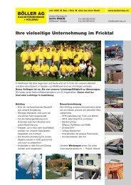 Ihre vielseitige Unternehmung im Fricktal BöLLer AG