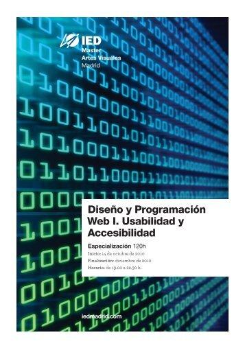 Especialización en Diseño y Programación Web I ... - IED Madrid