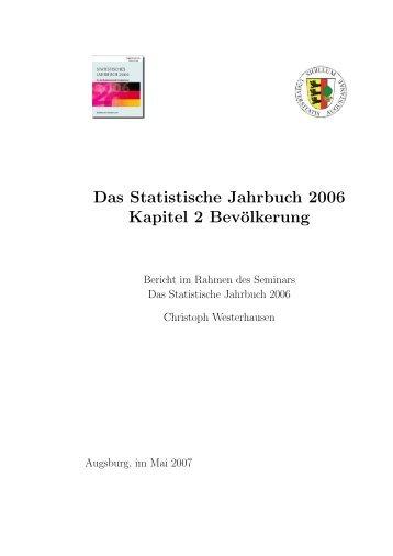 Das Statistische Jahrbuch 2006 Kapitel 2 Bevölkerung