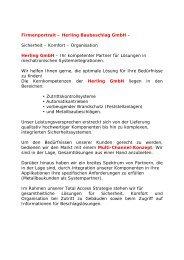 Sicherheit – Komfort – Organisation Herling GmbH - Herling ...