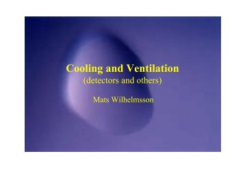 Cooling and Ventilation - ITCO - CERN