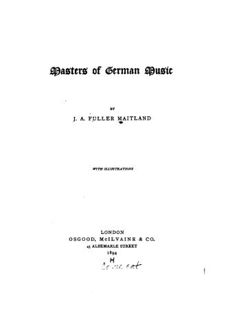 Masters of German Music - Felix Draeseke Home Page
