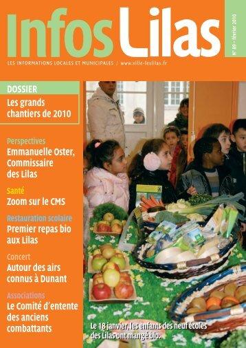 DOSSIER Les grands chantiers de 2010 Emmanuelle ... - Les Lilas
