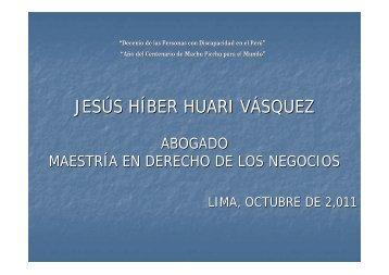 25.10 Fiscalización de Transporte Terrestre. Dr. Jesús Huari