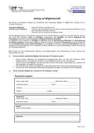 Antrag auf Mitgliedschaft - Jüdische liberale Gemeinde Wien