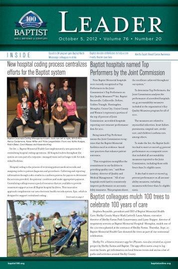 October 5, 2012 - Baptist Memorial Health Care