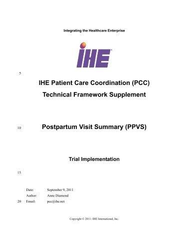 Postpartum Visit Summary - IHE