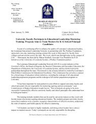 University Faculty Participate in Educational Leadership ... - Regents