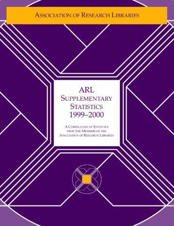 ARL Supplementary Statistics 1999-2000
