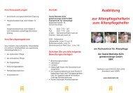 Ausbildung Altenpflege/Altenpflegehilfe - Sozial-Betriebe-Köln