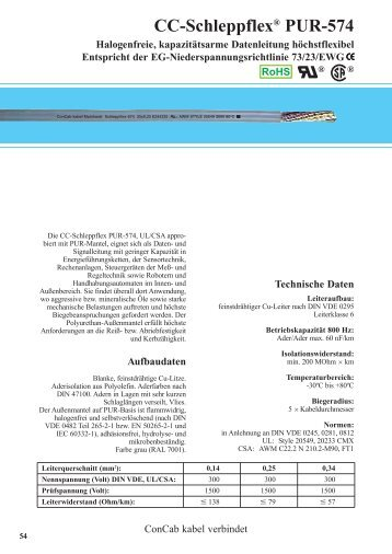 CC-Schleppflex® PUR-574 - ConCab kabel gmbh