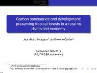 Carbon sanctuaries and development: preserving ... - UNU-WIDER