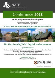 Conference 2013 - National Association for the Teaching of English