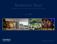 SIGNIFICANT SALES - Home Glacier Sotheby's International Realty