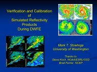 Verification methods for Simulated Reflectivity