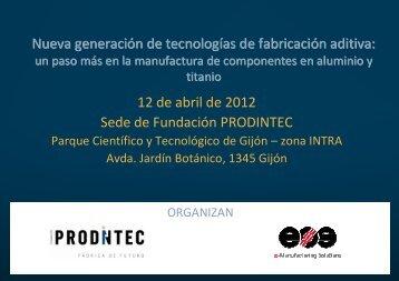 agenda jornada - Fundación Prodintec