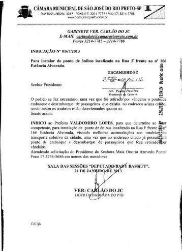 """Page 1 -- """" ,.. , CAMARA MUNICIPAL DE SAO JOSE DO RIO PRETO ..."""