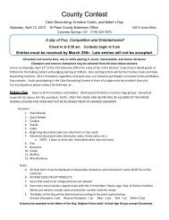 County Contest 2013 - El Paso County Extension