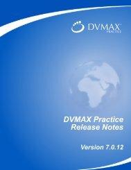 DVMAX Practice Release Notes