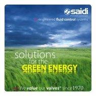 Solutions for the GREEN ENERGY - SAIDI
