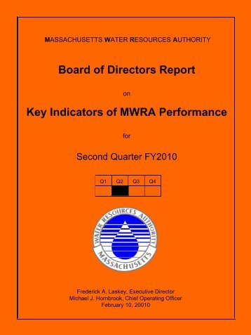 Quarter 2 - Massachusetts Water Resources Authority