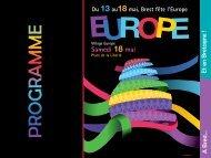 le programme de l'ensemble des événements - Maison de l'Europe ...