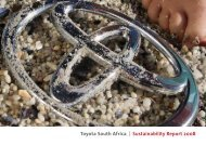 Toyota South Africa Sustainability Report 2008 - Automotiveonline ...