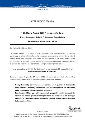 100212_Mediarelease_St Moritz Award 2010_It - Stmoritz-award.com