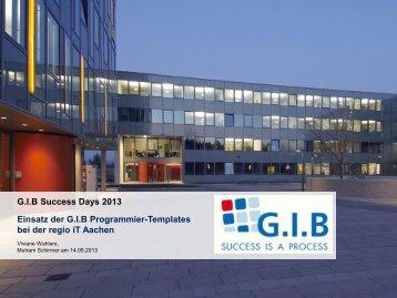 Komplexe Umsetzung mit GIB-Templates