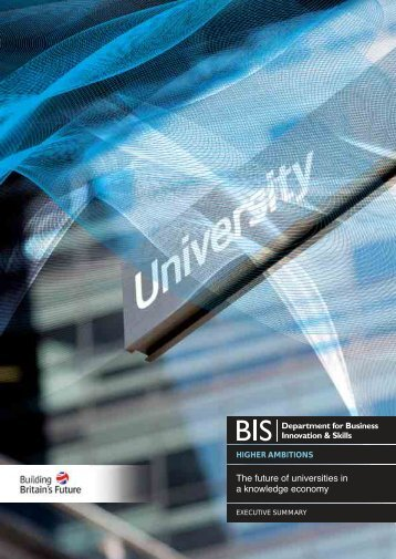 The future of universities in a knowledge economy - Dius.gov.uk