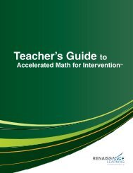 Teacher's Guide to Accelerated Math for Intervention - Renaissance ...