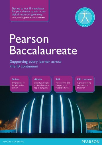 Supporting every learner across the IB continuum - Pearson Global ...