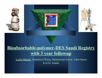 Bioabsorbable-polymer-DES Saudi Registry with 3 year followup