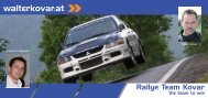 Autogrammkarte - Rallye Team Kovar