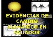 EVIDENCIAS DE CAMBIO CLIMATICO EN ECUADOR