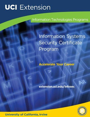 Information Systems Security Certificate Program - UC Irvine ...