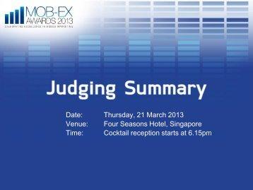 Thursday, 21 March 2013 Venue: Four Seasons Hotel, Singapore ...