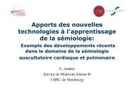 Apports des nouvelles technologies à l'apprentissage de la sémiologie
